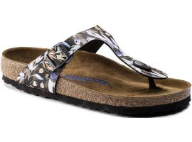 1017645 GIZEH SOFT FOOTBED FLORAL FADES BLACK